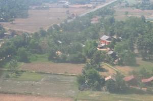 シェムリアップ着陸直前の景色