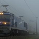 霧の久田野~白河を行くEF510-511牽引カシオペア