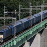 北斗星用24系廃車回送を鳥沢で撮影。