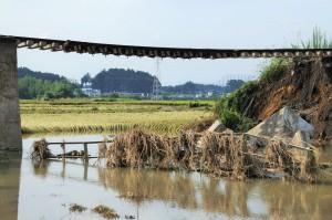 流された橋の欄干