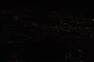 パリ郊外の夜景