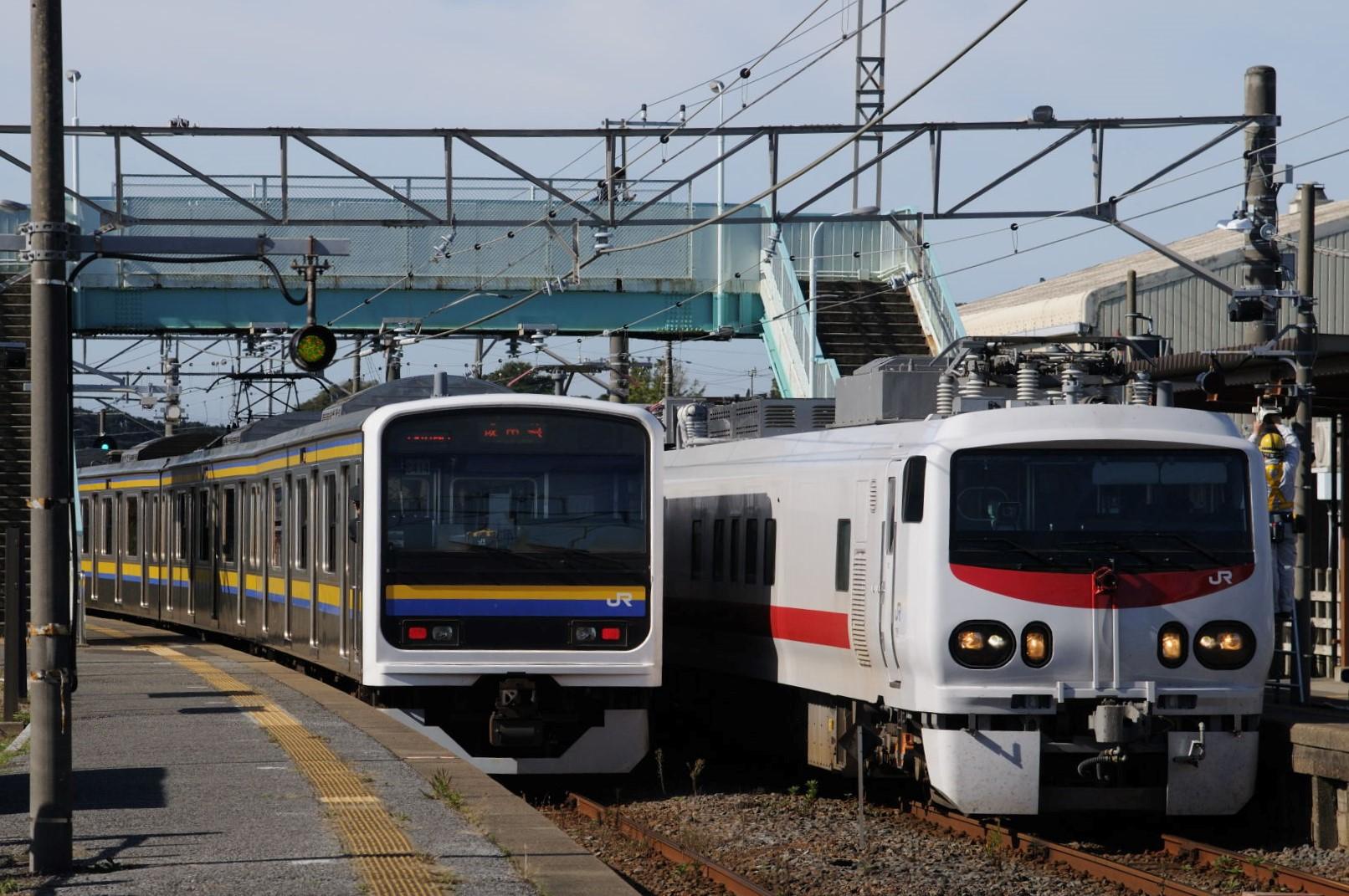 E491系East i-Eを椎柴駅にて駅撮り