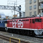 EF65 1118廃車回送を東大宮操で撮影。