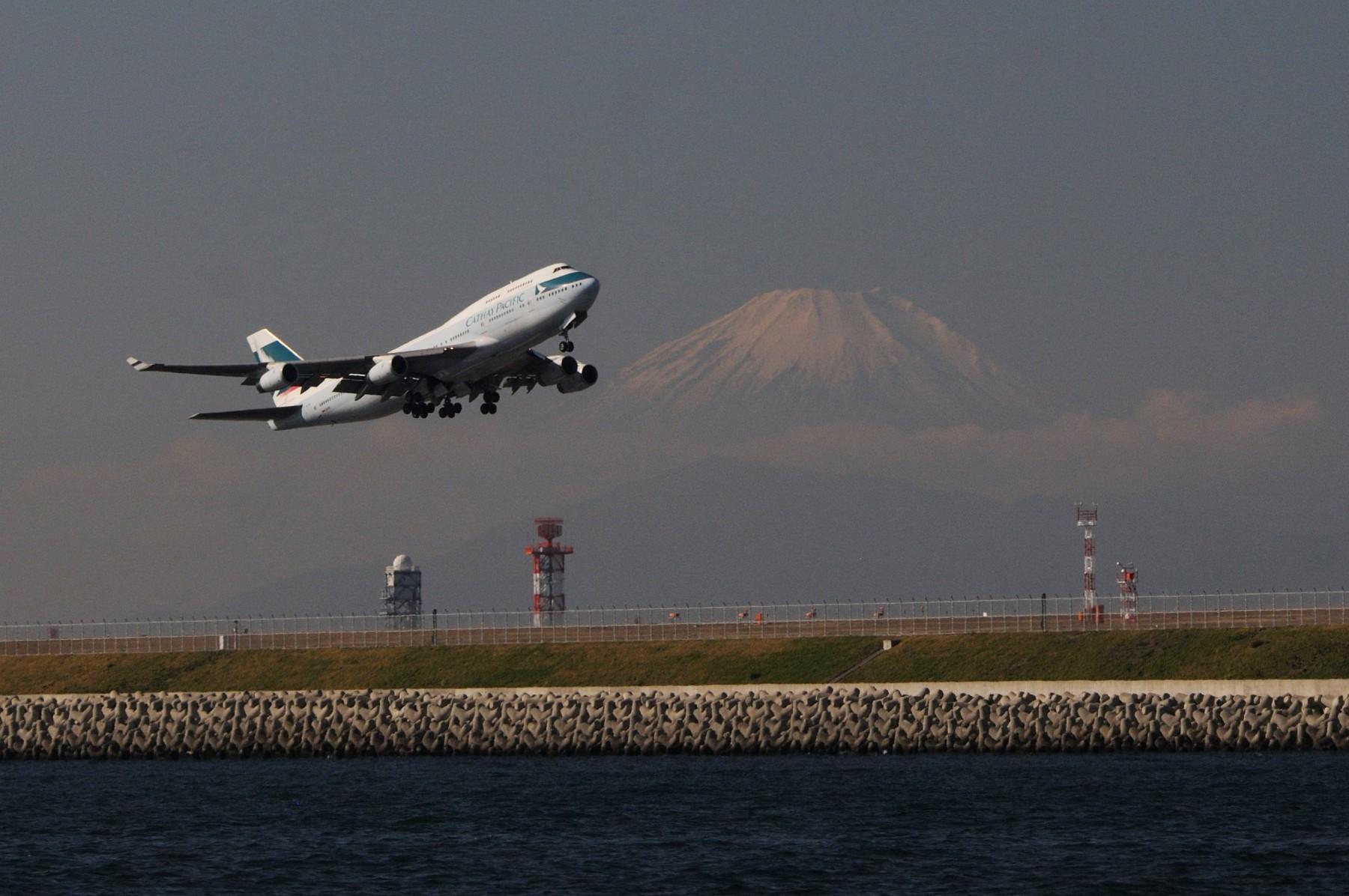 もうすぐ見納めキャセイパシフィック航空B747-400
