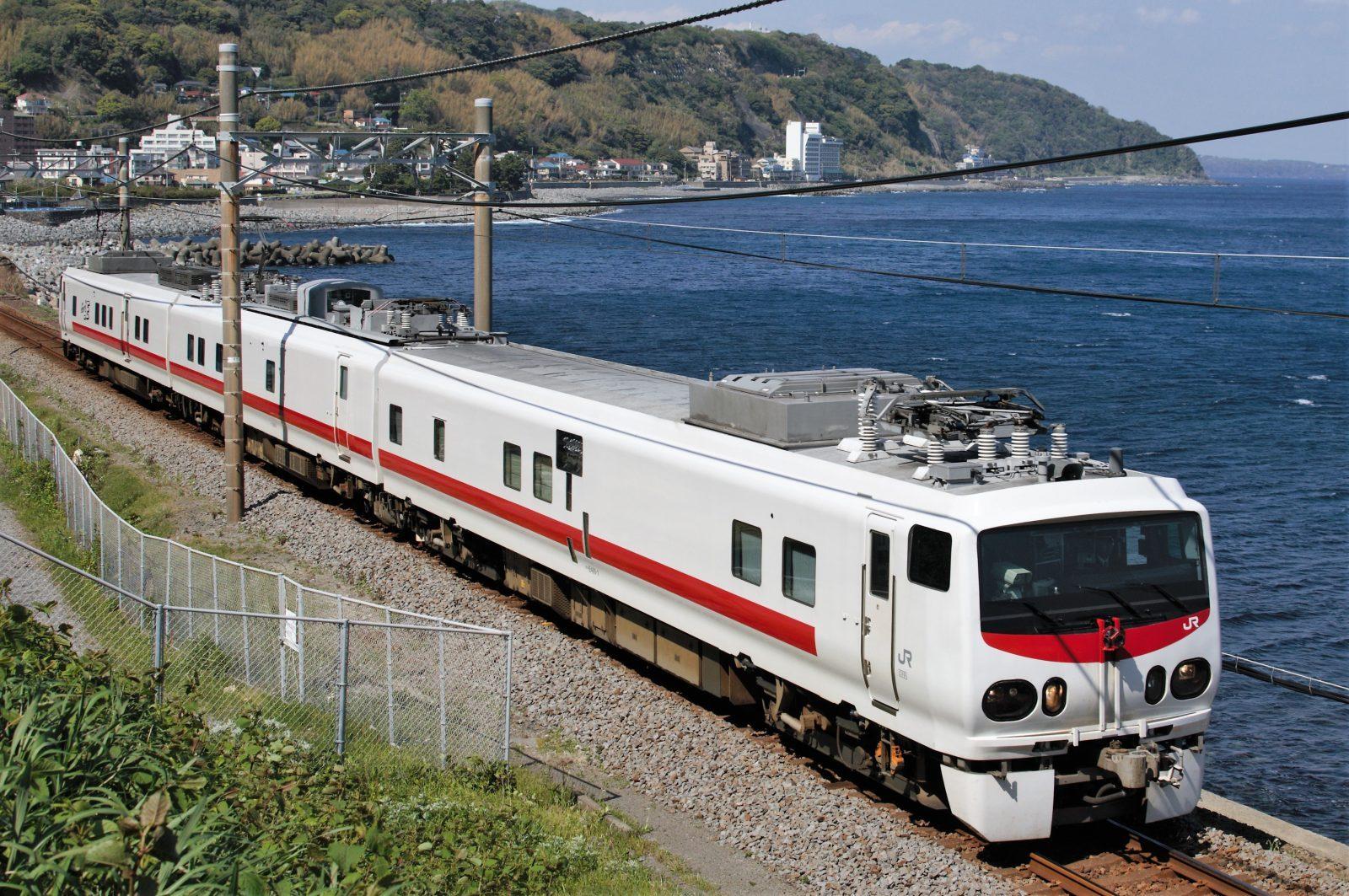 伊豆急線を検測運転するE491系East i-E 片瀬白田編