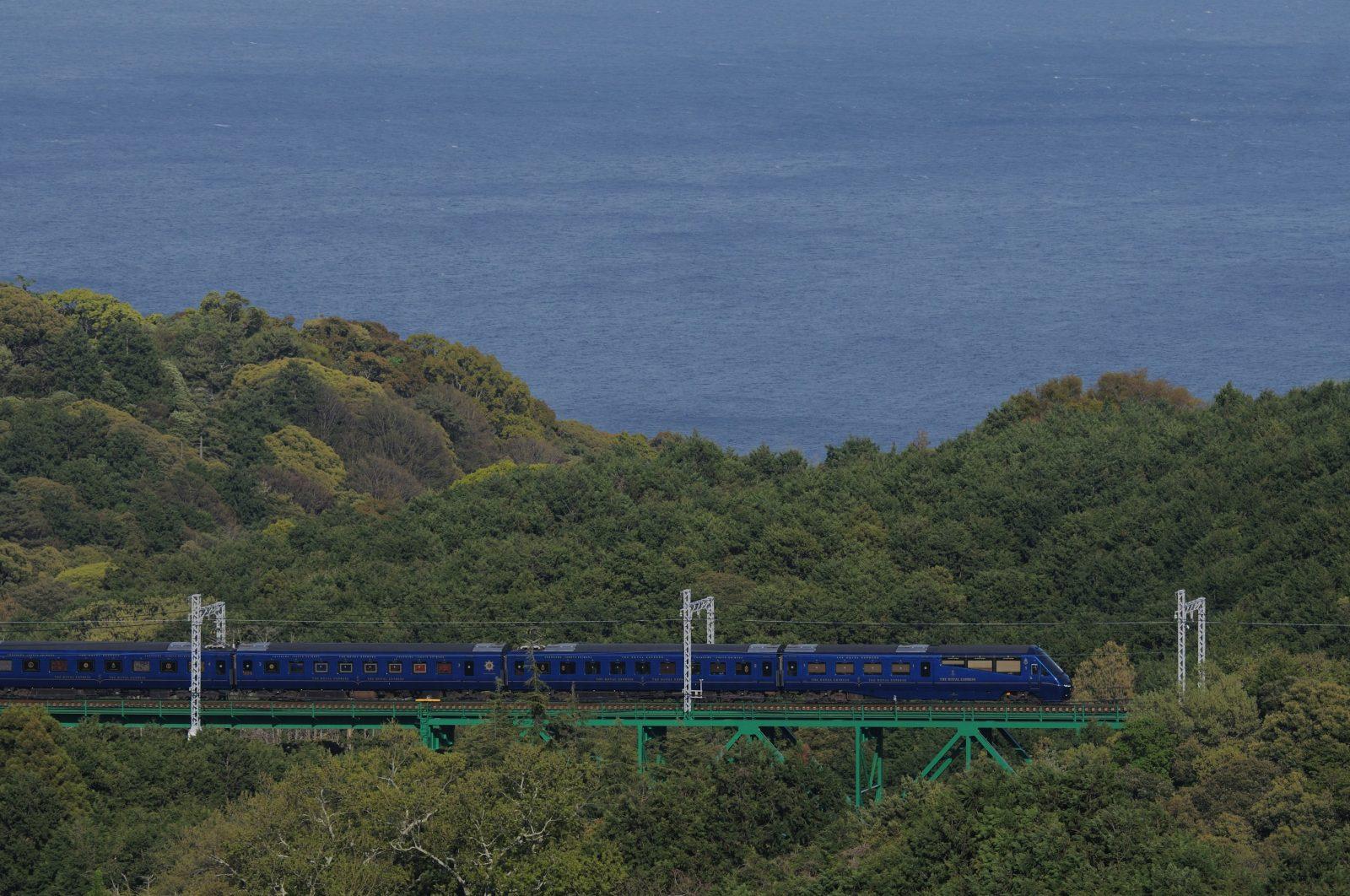 伊豆急線を検測運転するE491系East i-E 川奈俯瞰編
