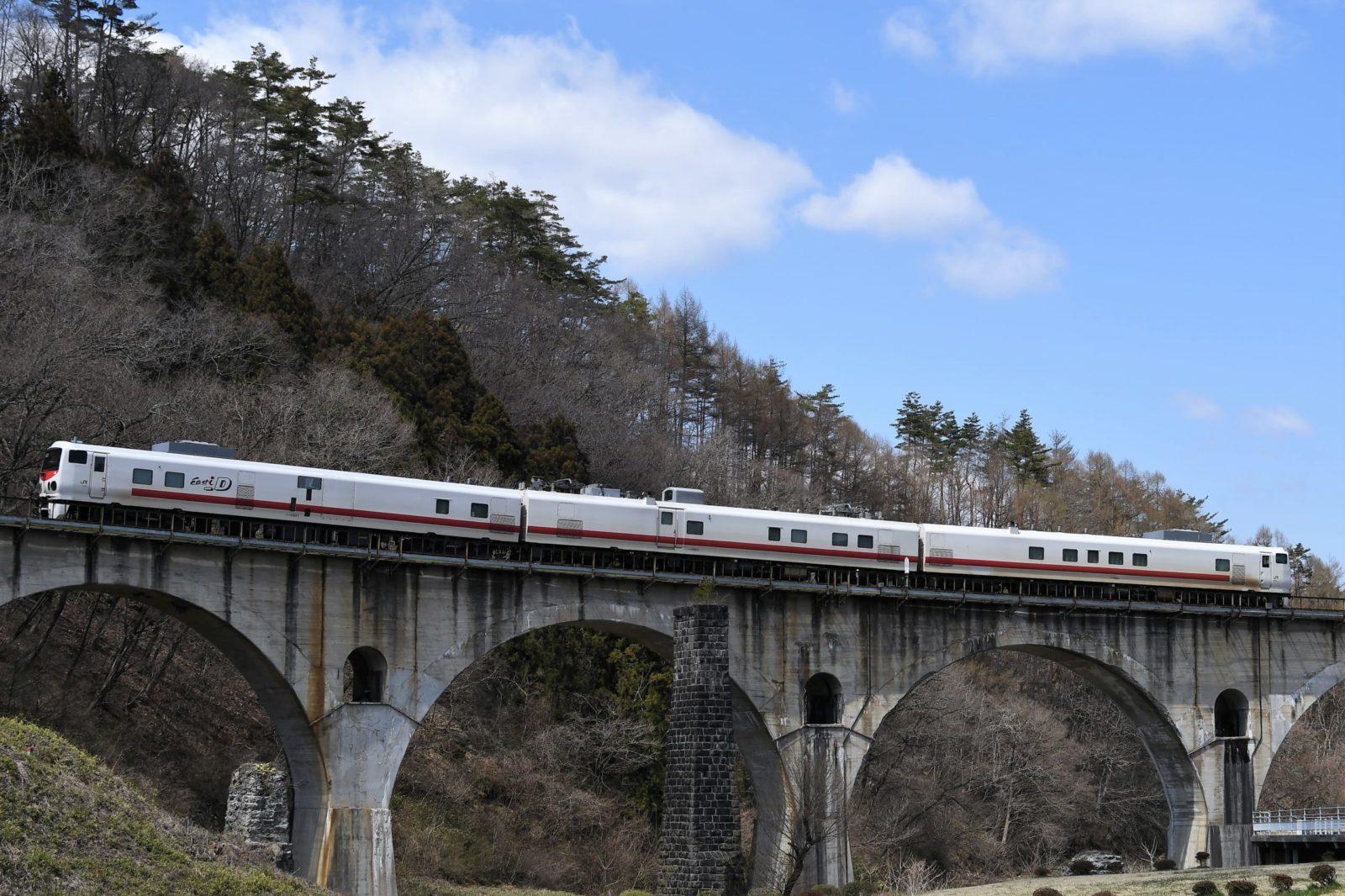 釜石線のキヤ検を撮影