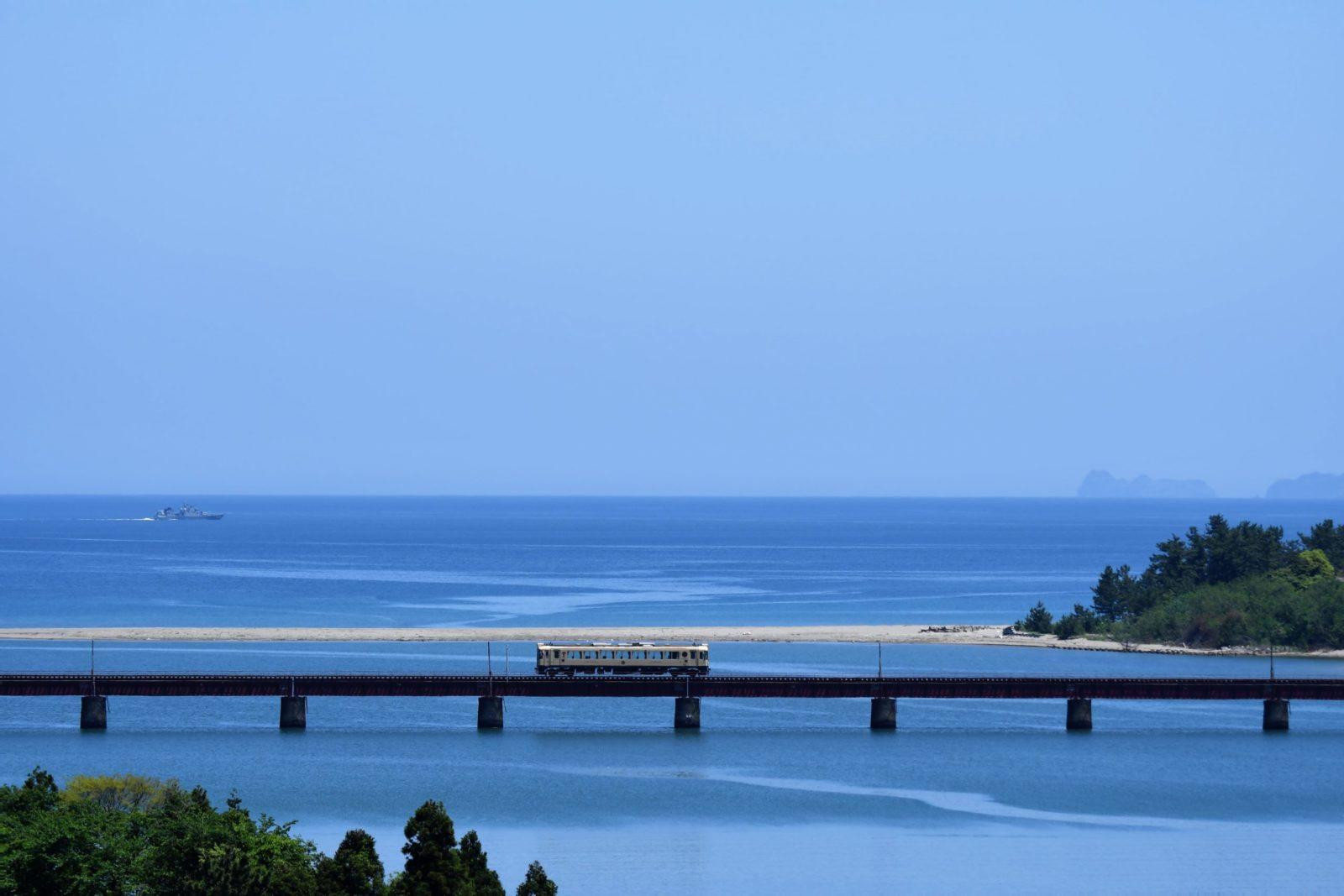 由良川橋梁にて